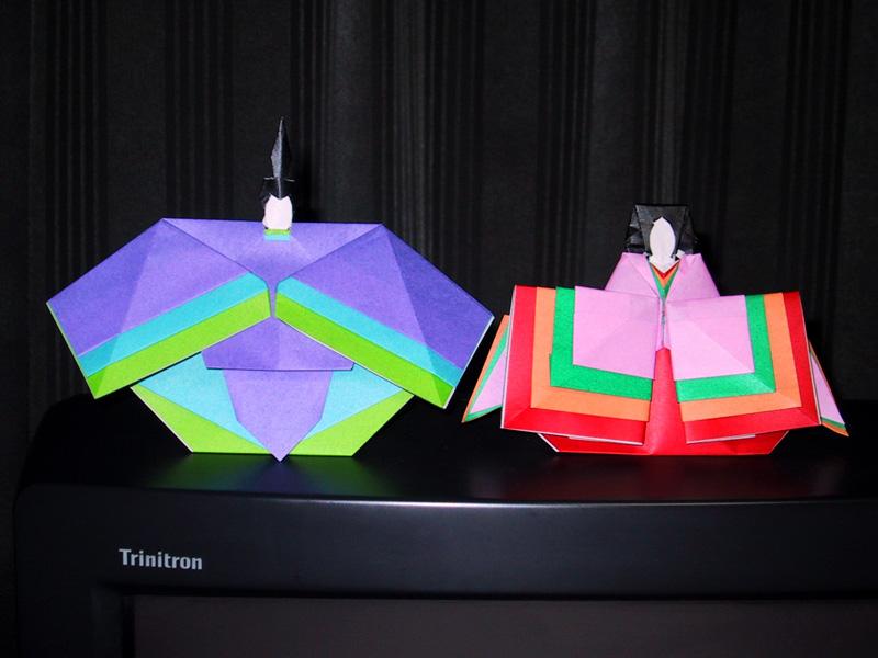 すべての折り紙 折り紙 ひな人形 折り方 : ひな人形