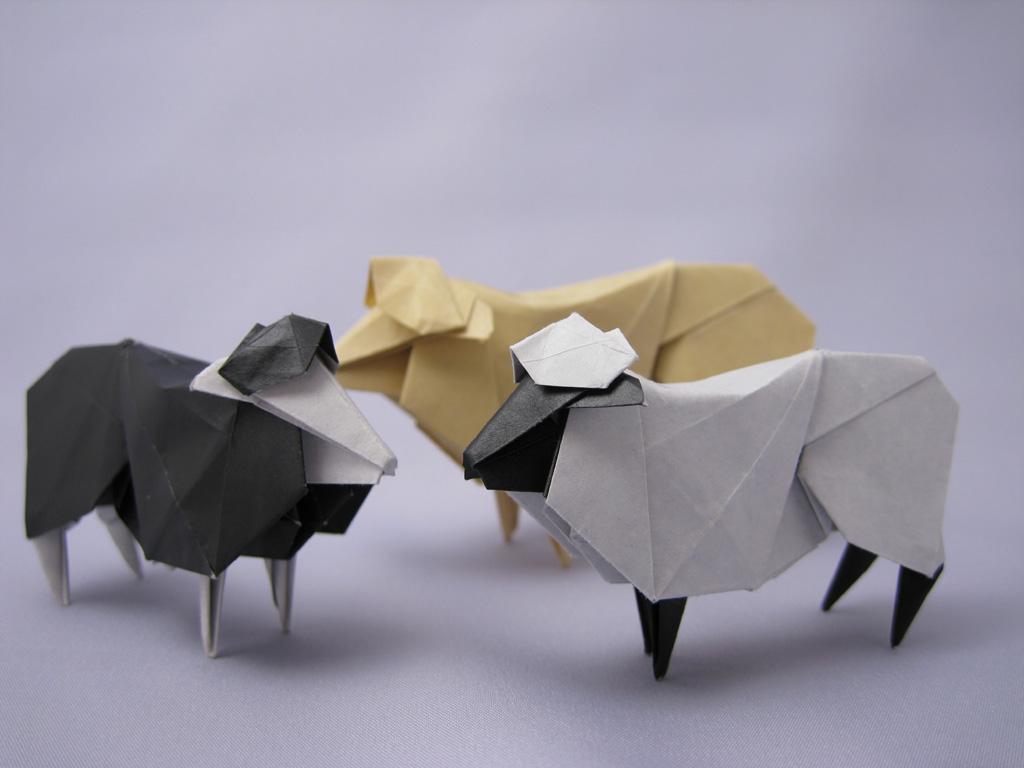 hitsuji_03.jpg : 折り紙 羊 簡単 : すべての折り紙
