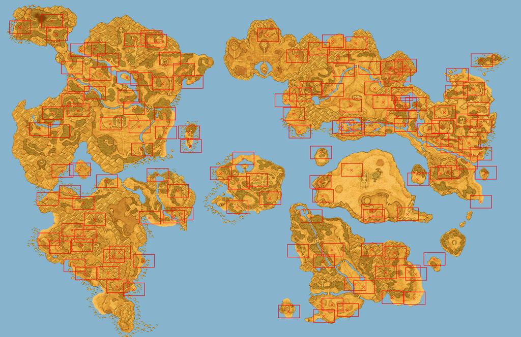 ドラゴンクエスト9宝の地図分布図